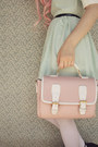 Light-pink-satchel-wholesale-bag-black-creeper-style-label-shoes-shoes