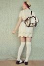 Cream-scalloped-sheinside-dress-beige-boater-wholesale-hat