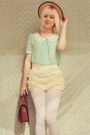 Light-blue-mint-peter-pan-oasap-blouse-beige-boater-style-wholesale-hat