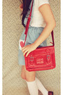 Light-blue-diy-skirt-beige-boater-wholesale-hat-red-satchel-choies-bag