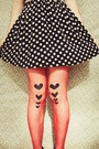 Red-diy-tights-black-wedge-style-rubi-shoes-boots-navy-polka-dot-oasap-dress