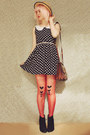 Black-wedge-style-rubi-shoes-boots-navy-polka-dot-oasap-dress