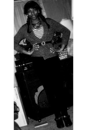 Daffys sweater - Macys boots - Daffys necklace - H&M pants - Macys watch