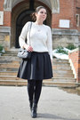 Black-lovely-shoes-boots-white-romwe-sweater-black-mart-of-china-bag