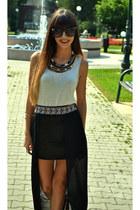 Bershka necklace - Koton sunglasses - Esprit t-shirt - Glow skirt