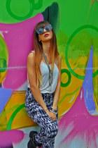zara necklace - hm boots - koton sunglasses - new yorker pants - esprit t-shirt