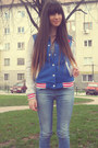 Blue-terranova-college-jacket-stradivarius-jeans