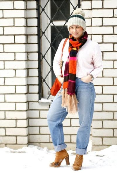 carrot orange H&M scarf - burnt orange Michael Kors bag