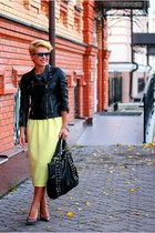 light yellow asos skirt - black Zara jacket