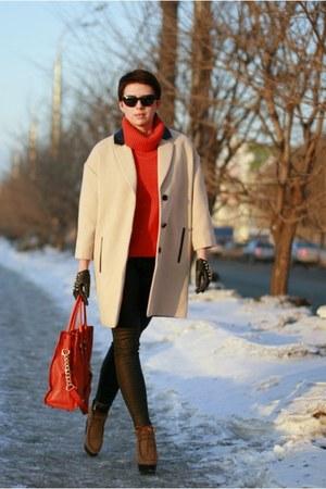 carrot orange Uniqlo sweater - black Zara jeans