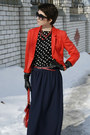 Black-zara-blouse-red-short-h-m-jacket-navy-long-skirt-new-look-skirt