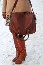 Dark-brown-maison-martin-margiela-for-h-m-bag