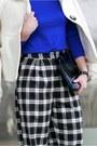 Blue-incity-sweater-black-asos-pants