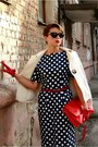 Red-zara-bag-navy-polka-dot-asoscom-dress-red-accessorize-gloves