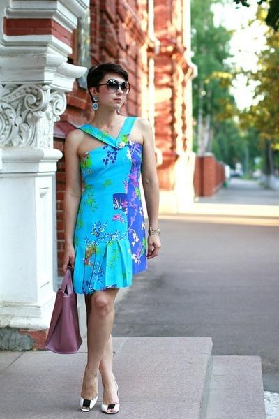 blue Versace for H&M dress