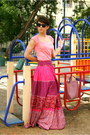 Hot-pink-mango-skirt-black-united-colors-of-benetton-sunglasses