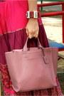 Hot-pink-mango-skirt-black-united-colors-of-benetton-sunglasses