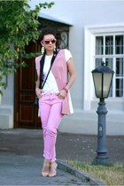 bubble gum Zara jeans - bubble gum kira plastinina vest