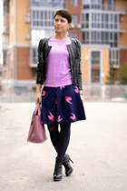 bubble gum Furla bag - black Zara jacket - bubble gum H&M top