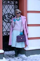 bubble gum asoscom coat - light pink H&M sweater