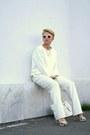 White-zara-sweater-white-asos-pants