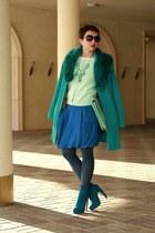 turquoise blue asos boots - aquamarine asos bag
