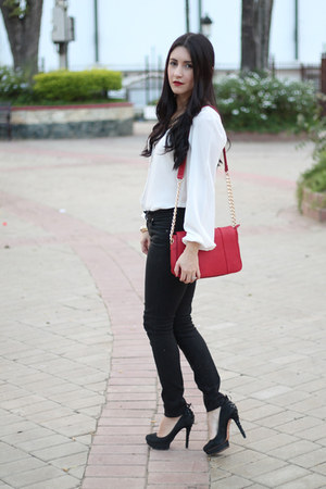 bag - citizens of humanity jeans - Schutz pumps - blouse