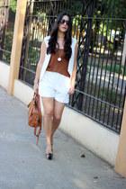 off white Sheinsidecom vest - burnt orange Sole Society bag