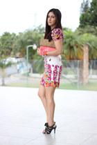Rampage dress - pink H&M bag - black Shoedazzle sandals