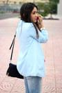 Light-blue-gap-jeans-light-blue-forever21-blazer-black-sole-society-bag