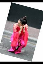 red Gracia top - hot pink New York Company pants