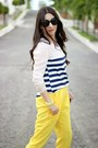 Black-persunmall-bag-black-shoedazzle-pumps-yellow-local-store-pants