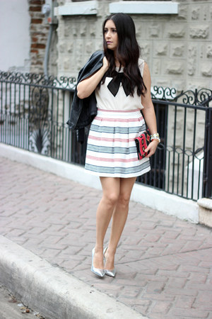 suiteblanco bag - Forever 21 jacket - suiteblanco skirt - Forever 21 top