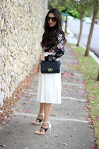 ivory Local store skirt - black PERSUNMALL bag - beige Shoedazzle pumps