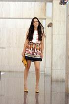gold Local store pumps - eggshell Sheinsidecom dress