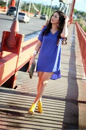 blue Local store dress - heather gray Local store sunglasses
