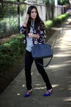 black J Brand jeans - Sheinsidecom jacket - silver Zara t-shirt