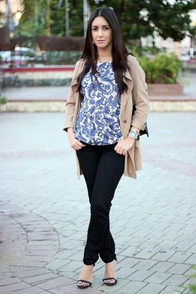 camel Sheinsidecom jacket - black J Brand jeans - black Zara heels