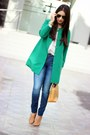 Green-sheinsidecom-coat-blue-zara-jeans-white-bershka-shirt