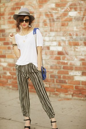 ivory hat - tan pants