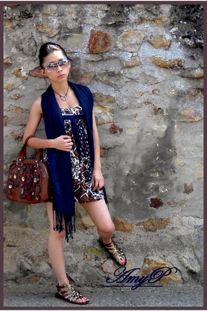 etam dress - new look shoes - Lancaster sunglasses - Zara