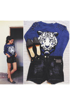 Mart of China sweater - Only shorts - Zara loafers