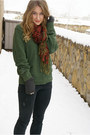 Green-american-eagle-sweater-black-jeffrey-campbell-boots