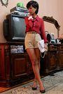 Red-vintage-ebay-blouse-accessorize-bracelet-brown-vintage-ebay-beige-cust