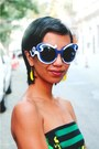 Yellow-gifted-earrings-black-wedges-sonia-rykiel-for-h-m-shoes
