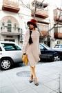 Black-zara-shoes-mustard-corduroy-jeans-carrot-orange-zara-hat