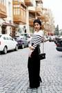 Black-turban-hat-white-topshop-sweater-black-chanel-bag-black-velvet-maxi-