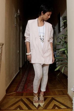 beige Stella McCartney jacket - beige Mango - white Mango top - white Accessoriz