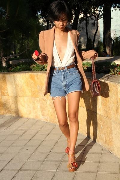 棕色Zara-white-mangodiy-top-f21-blue-versue-ronget-brown-mango-sh_400