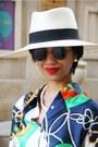 Cream-chanel-hat-forest-green-silk-ralph-lauren-vintage-shirt-black-caviar-c